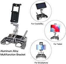 Tablet Holder Compatible with DJI Mavic 2/Spark/Mavic Air/Pro/Crystal Sky Remote Controller– RCstyle Aluminum-Alloy Adjustable Accessories Bracket Mount Extender with Neck Lanyard Strap for 4-12 Inch