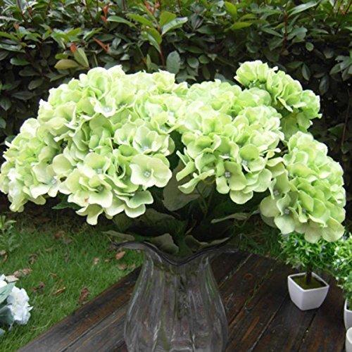 A-goo 7 Köpfe Kunstblume Hortensie, Seide Blumen Bouquet Dekoration – Grün