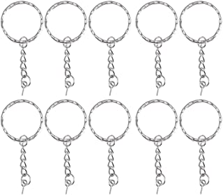 Artibetter 100PCS Metal Split Key Chain Round Keychain Key Holder Key Chain Rings for Jewelry Keychain Crafts