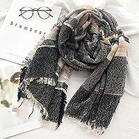 マフラー メンズ マフラー 秋冬 ソフトスカーフ 暖かい 防寒 軽量 クラシック 快適 スカーフ XueQing Pan (Color : ブラック)