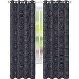 jinguizi Cortina de ventana con diseño de estrella geométrica marroquí Royal W52 x L72, cortinas opacas para dormitorio de los niños