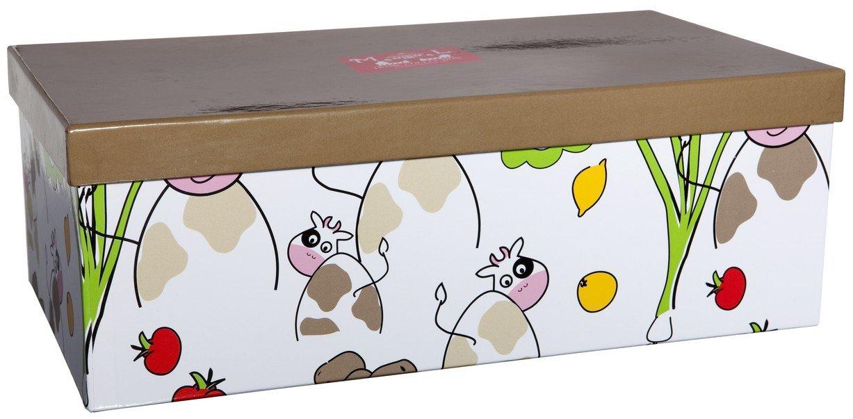Dfte-Juego de taza de desayuno y caja para dos desayuno, diseño de vaca: Amazon.es: Hogar