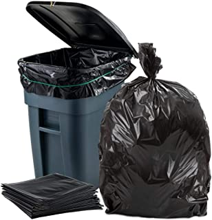 "Plasticplace 65 Gallon Trash Bags │ 1.5 Mil │ Black Heavy Duty Garbage Can Liners │ 50"" x 48"" (50 Count)"