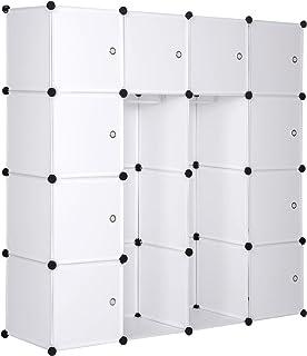 eSituro SGR0041 Armoire de penderie Cube avec Portes Armoire de Rangement modules Ranger Les vêtements Chaussures 10 Cubes...