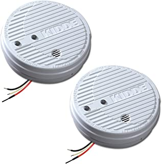 Kidde 1275 Hardwire Smoke Alarm with Hush Feature and Battery Backup, Twin Pack