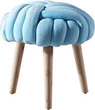 Ottoman Round Soft Sofa Kruk Modern Flanel Fabric Volwassenen Make-Up Chair Poef Bekleed Footstool Household Dineren Krukk...