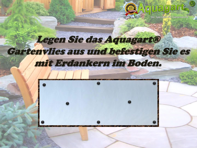 Aquagart Premium Teich Steinfolie 6m x 0,4m grau I Steinfolie Teich-Folie f/ür Bachlauf Gartenteich Zubeh/ör I Epdm-Folie Stein-Matte Teichrand Teichzubeh/ör I Kiesfolie