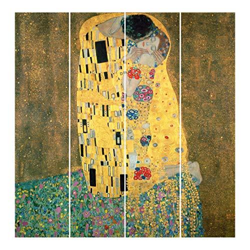 Bilderwelten Cortinas deslizables G. Klimt Kiss 4 Paneles japoneses Sin Montaje 250x240cm