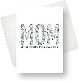 励志母亲节贺卡 - 优质独特设计 - 适合母亲、祖母、阿姨和女朋友 - 5.5 英寸 x 7.5 英寸 - 1 张卡片