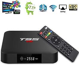 YAGALA T95 S1 Android 7.1 TV Box 1GB RAM 8GB ROM Amlogic S905W Quad core cortex-A53 Processor 2.4Ghz WiFi H.265 HDMI 2.0 Smart TV Box 100M Ethernet