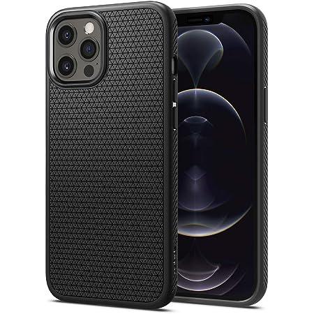 Spigen Liquid Air Back Cover Case Compatible with iPhone 12 Pro | iPhone 12 (TPU | Matte Black)