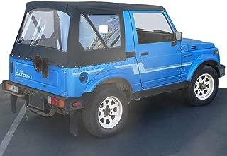 Sierra Offroad Suzuki Sidekick & Geo Tracker Soft Top Replacement, fits 1986-1994, Leather Grain Vinyl, Black