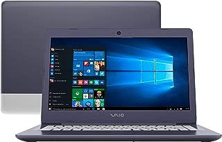 """Notebook Vaio C14, Intel Core i3 6006U, 4GB RAM, SSD 128 GB, SSD 128 GB, tela 14"""" LCD, Windows 10, VJC141F11X"""