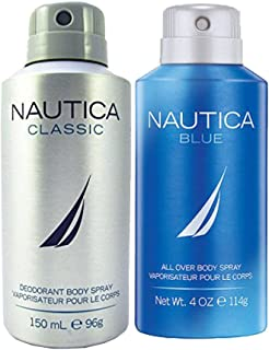 Nautica Classic and Blue Deodrant Spray for Him, 300 ml