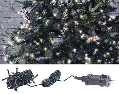 Lunartec LED Kette: LED-Lichterkette mit 40 LEDs für innen & außen, IP44, warmweiß, 4 m (Weihnachtslichterkette)