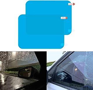 LivTee Car Side Windows Rainproof Film, HD Anti Fog Nano Coating Car Films, 2PCS