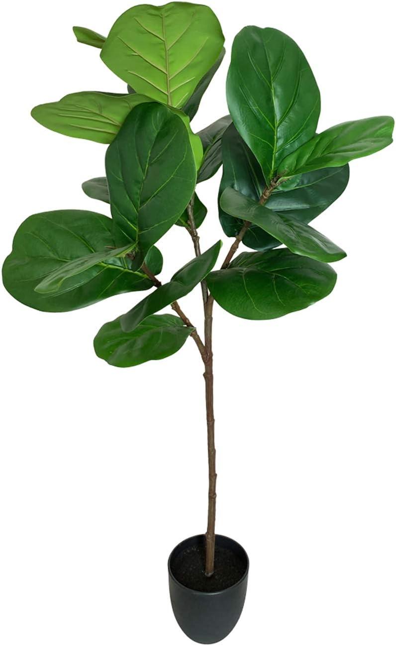 BESAMENATURE 41-inch Artificial Fiddle Manufacturer direct delivery Leaf Fake Fig - Tree free