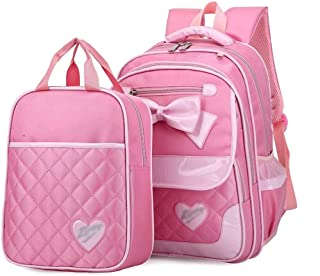 XHHWZB School Backpack, Student Nylon Fabric Bookbag Lightweight Laptop Bag with Shoulder Bags and Pen Case for Teen Boys and Girls