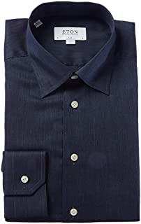 Mens Slim Fit Dress Shirt, 42, Blue