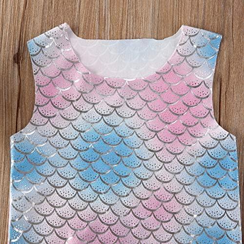 Conjunto de pantalones cortos de sirena para bebé y niña, con ...