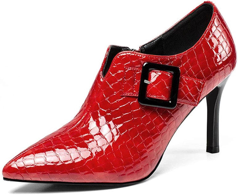 Skor för kvinnor, 2019 2019 2019 ny Springaa  Fall Comfortable Single skor Damer Fine hög klack Point bröllop Party Mode skor, A,35  de senaste modellerna