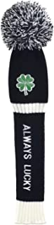Lolji Decorations Embroidered Knitted Golf headcovers for 460cc Driver Wood POM POM Head Club Covers for Taylormade Callaway Titleist Ping Gift for Golf Lover