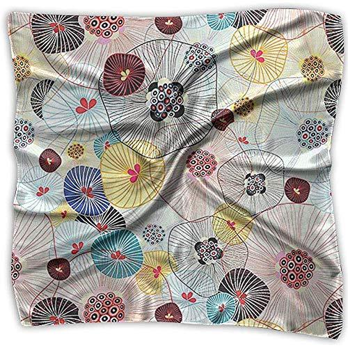 Uridy Sciarpa quadrata in raso Ombrello in seta di seta come bandane leggere Scialle con collo scialle Foulard