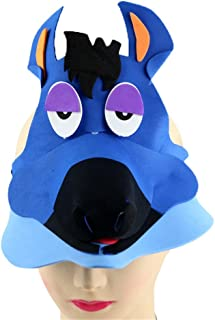 Remeehi Halloween Hat Fancy Dress Party Costume Cap Party Decor for Kids Adult Dress up Party Halloween Costume Head Accessory Top Hat Blue Pony