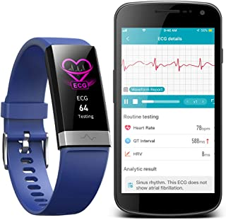 AUPALLA Activity Tracker with ECG Monitor Measure Pulse Oxygen Saturation SpO2 Blood Pressure Heart Rate HRV Sleep Monitor...