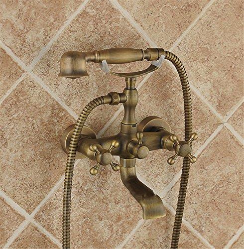 Grifo de ducha Watertower, moderno, sin plomo, latón macizo y válvula de cerámica, grifo de cascada para ducha antigua, bañera, grifo de agua fría y caliente, cabezal de ducha simple para montar en la pared