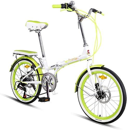 Faltbare Fahrrad 7 Gang-Schaltung Citybike 20 Zoll Rahmen aus Kohlenstoffstahl Mountainbike Für Erwachsene