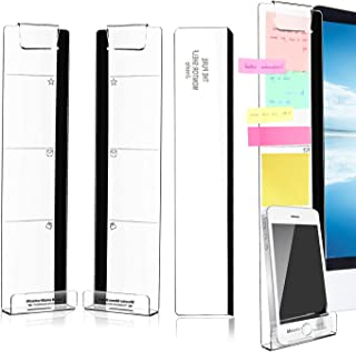 Monitor Memo Board, 3 Pcs Acrylic Message Board Monitor Sticky Note Holder Note Pad for Women Men Office Organization Desk...