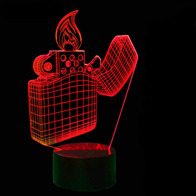 Laofan 7 Farbwechsel Kinder Touch Button 3D Visuell Leichter Schreibtischlampe USB Wohnkultur Leuchte Led-nachtlicht,Remote und berühren