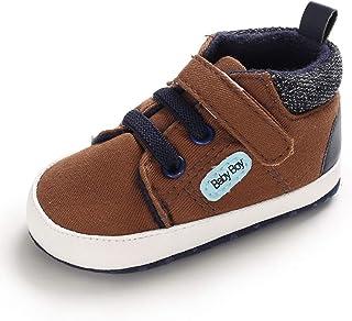 Auxm Chaussures pour bébé de 0 à 18 mois, chaussures pour bébé garçon - Chaussures pour bébé - Semelle souple et antidérap...
