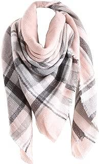 Women Tartan Scarf Stole Plaid Blanket Checked Scarves Wraps Shawl