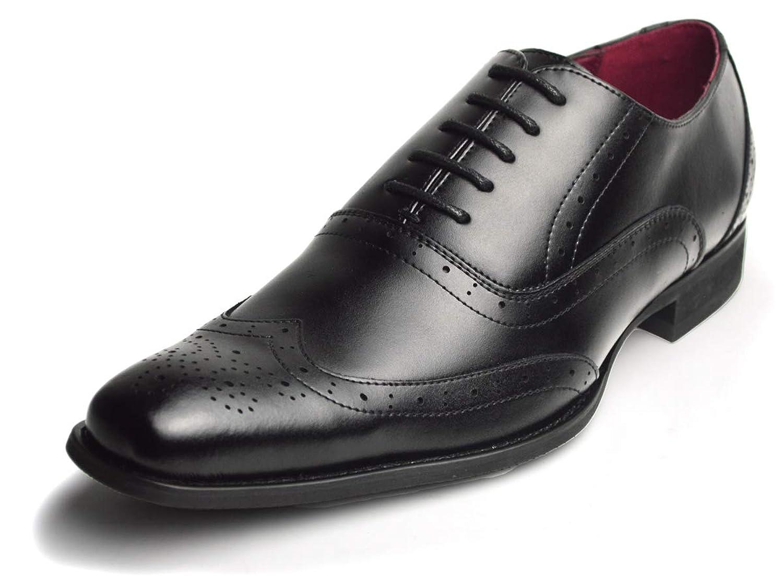 [ネロ コルサロ] 本革 日本製 ビジネスシューズ 革靴 紳士靴 メンズ レースアップ ウイングチップ 内羽
