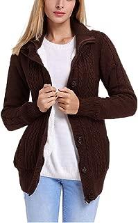 neveraway Womens Fleece Knitted Casual Cardigan Warm Outwear Coat Jacket