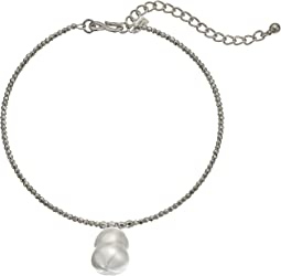 "Kenneth Jay Lane 12"" Bead Choker with Baroque Pearl Pendant and 4"" Extender Chain Necklace"
