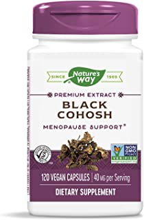 Nature's Way Standardized Black Cohosh, 2.5% Triterpene Glycosides per serving, 40 mg per serving, Non-GMO Project Verifie...