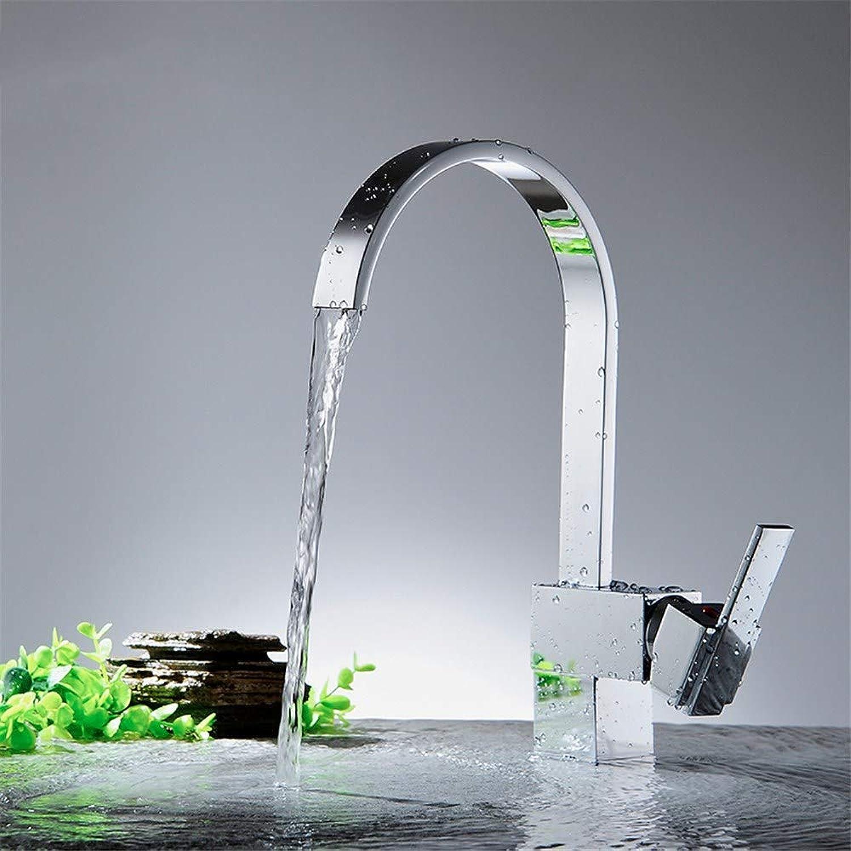 Joeyhome Küchenarmatur Kalt- und Warmwasserhahn Einlochmontage Wasserhahn Messing Spültischarmatur Y40028