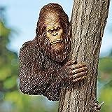 HJXX Bigfoot The Bashful Yeti Garden Tree Sculpture, Bigfoot 3D Garden Tree Decoration Full-Color Resin Sculpture for Outdoor use