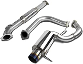 For Mitsubishi Eclipse Catback Exhaust System 4 inches Burn Tip Muffler - 3 Gen V6