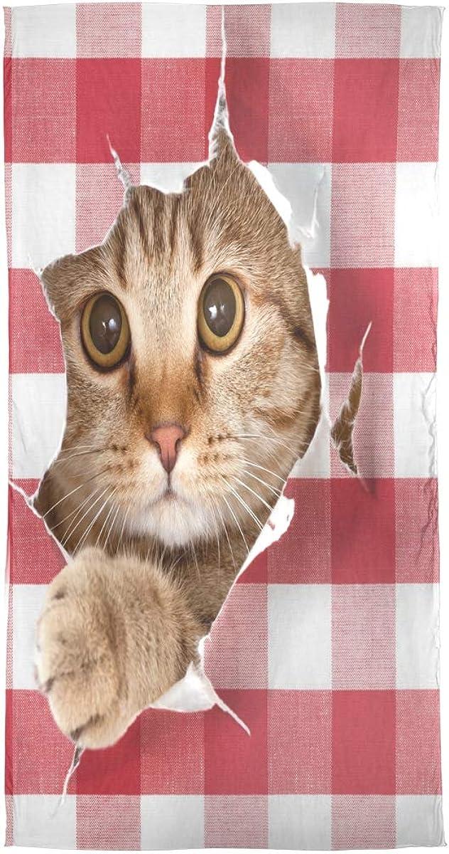 AUUXVA Fashion Scarf Cute Christmas Animal Cat Plaid Long Lightweight Sunscreen Scarf Shawl Wrap Muffler Neckerchief for Women Men
