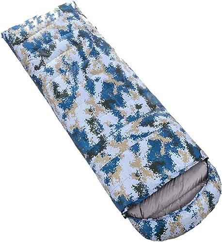 ZWYY Durable,ComfortableSac de Couchage, avec Sac de Compression Sommeil Sacs enveloppe Portable léger Sommeil Sac 4 Saison Camping randonnée Chaud Sac de Couchage,D,2000g