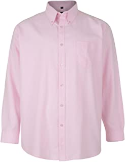 Kam Oxford Classic Long Sleeve Shirt - Pink