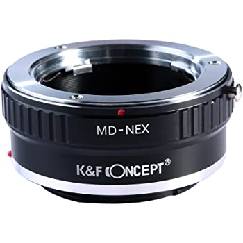 K&F Concept Lens Mount Adapter for Minolta MD MC Lens to Sony NEX E-Mount Camera,fits Sony a6500 a6600 a6300 a6000 Sony a7