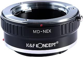 K&F Concept Lens Mount Adapter for Minolta MD MC Lens to Sony NEX E-Mount Camera,fits Sony NEX-3 NEX-3C NEX-5 NEX-5C NEX-5N NEX-5R NEX-6 NEX-7 NEX-F3 NEX-VG10 VG20 etc