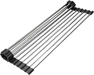 Over the Sink Dish Drying Rack Roll-up Dish Drying Rack Kitchen Dish Drainer, 18.5''(L) x 13.9''(W)