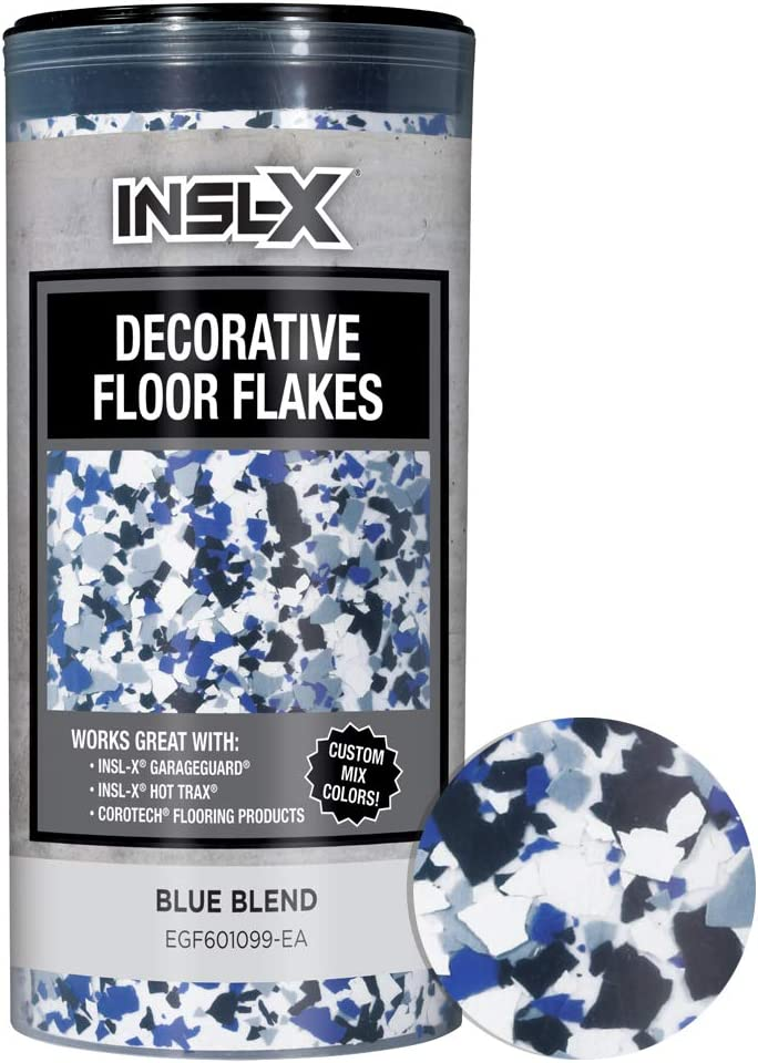 INSL-X Max 80% OFF PRODUCTS EGF601099-EA RED Flakes Floor Combo Decorative Ranking TOP4