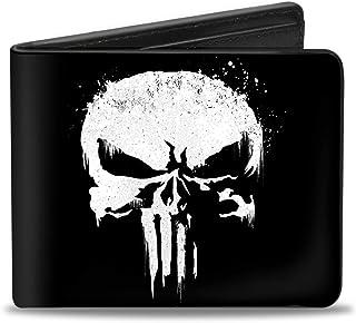 Buckle-Down PU Bifold Wallet - Punisher 2017 Series Icon Black/White